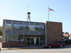 Galesville, Wisconsin - Image: Galesville Wisconsin Post Office Police City Hall