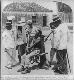 Execução por garrote vil nas Filipinas em 1901 (século XX)