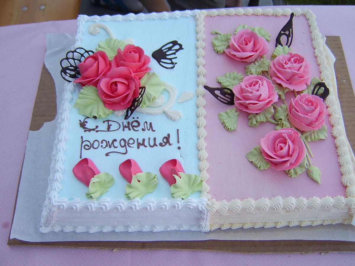 Как красиво написать на торте поздравление