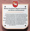 Gedenktafel Adlerbrückengasse 13 (Brixen) Leonhard von Brixen.jpg