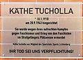 Gedenktafel Bruno-Bürgel-Weg 100 (Nischw) Käthe Tucholla 2.jpg