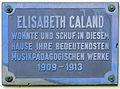 Gedenktafel Nithackstr 22 Elisabeth Caland.JPG