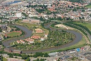 Geeste (river) - Image: Geestebogen Bremerhaven 2012 05 28 DSCF9380