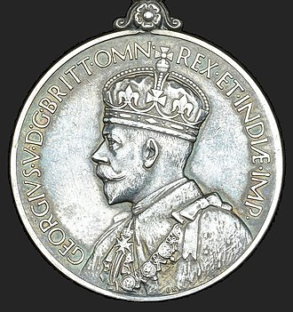 General Service Medal (1918) - Image: General Service Medal 1918, King George V