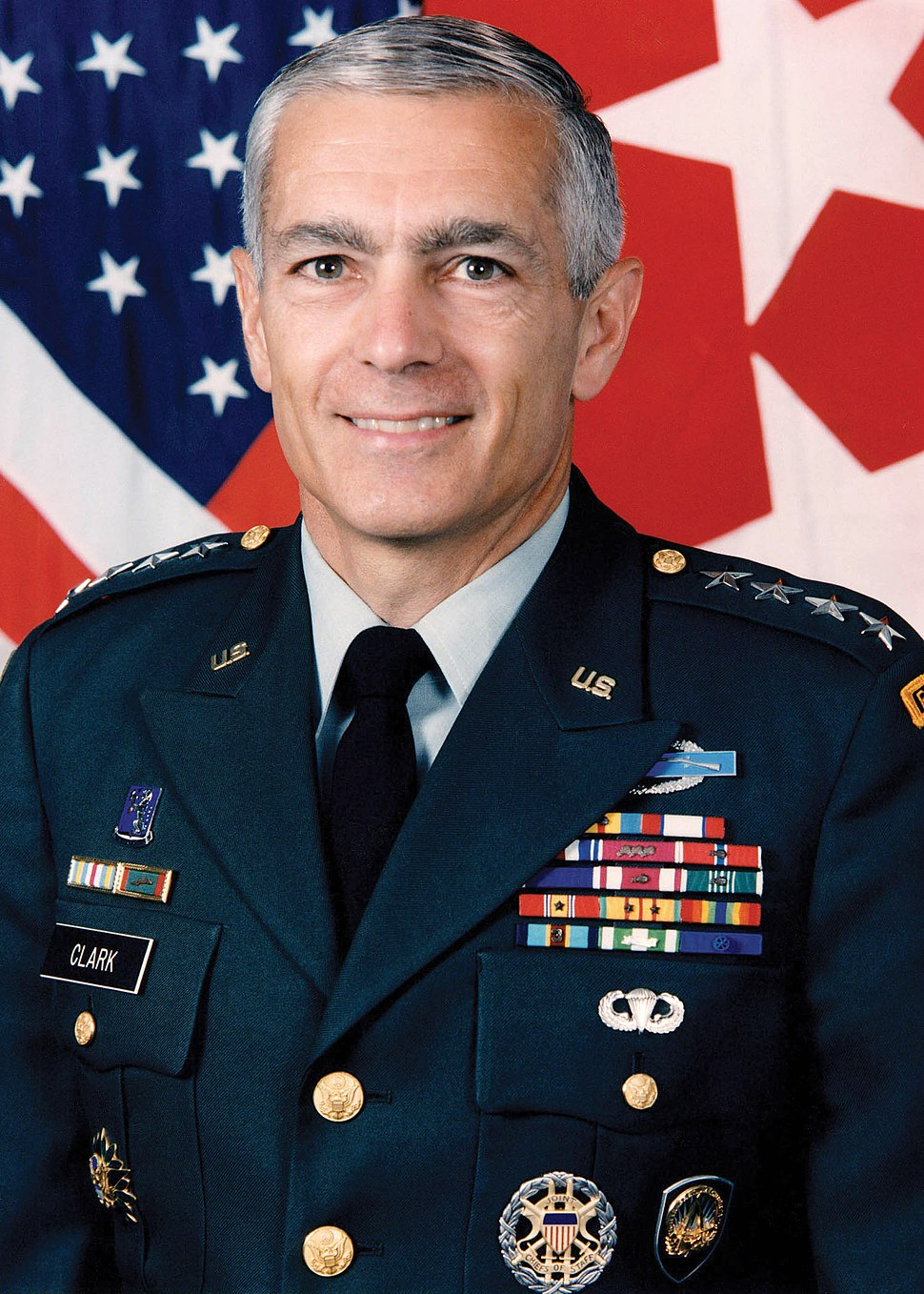 General Wesley Clark official photograph, edited