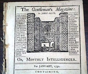 The Gentleman's Magazine - Volume One, Issue One, published January 1731