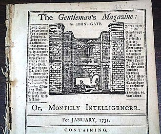 The Gentleman's Magazine - Top half of Volume One, Issue One, published January 1731