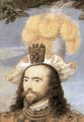 Edward Wright (mathematician) - Hilliard's portrait of George, Earl of Cumberland (ca. 1590, detail). Wright dedicated his work Certaine Errors in Navigation (1599) to him.