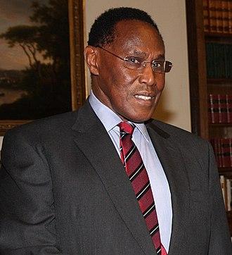 Deputy President of Kenya - Image: George Saitoti (cropped)