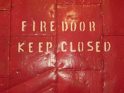 Georgetown PowerPlant - fire door 01