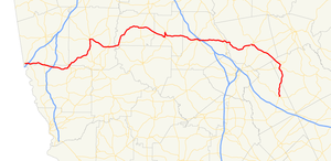 Georgia State Route 18 - Image: Georgia state route 18 map