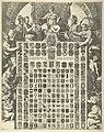 Geslachtswapens van prins Willem III in een allegorische omlijsting De LXIIII Geslacht Wapenen van de Prins van Oraenjen etc. en de Wapenen der 7 Vereenigde Nederlanden met hare Steden etc. (titel op object), RP-P-OB-46.698.jpg