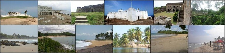 Ghana Tourism sites (collage)