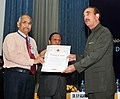 Ghulam Nabi Azad presented the Indian Red Cross certificates of merit, at the Business Session of the Annual General Meeting of the Indian Red Cross Society & St. John Ambulance (India), in New Delhi on May 03, 2013.jpg