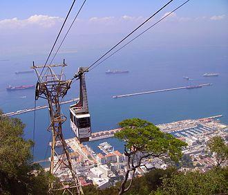 Gibraltar Cable Car - Image: Gibraltar GM 2008 (19)