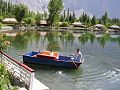 Gilgit baltistan near shangrila hotel locals who take people to tour on the hotels boat.jpg