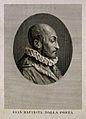 Giovanni Battista della Porta. Line engraving by P. Becceni Wellcome V0004747.jpg
