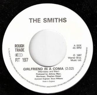 "The Smiths - The single for ""Girlfriend in a Coma""."