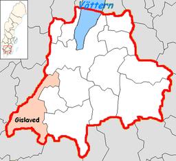 Gislaved kommunes beliggenhed i Jönköpings amt