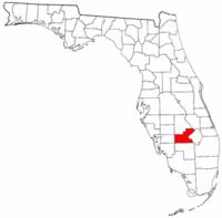 佛罗里达州沼泽县地图