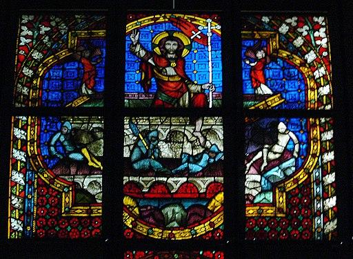 Glasfenster aus Minoritenkirche Regensburg Auferstehung