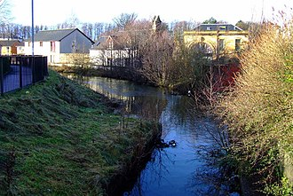 Glasgow, Paisley and Johnstone Canal - Remains of the canal at Ferguslie Mill