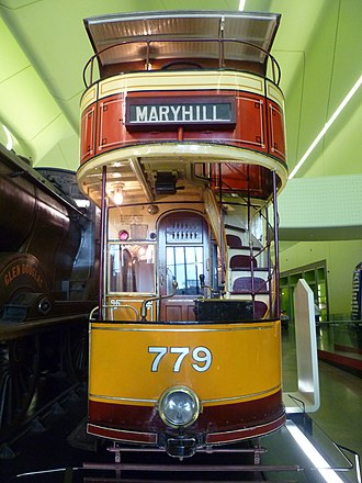 Glasgow Corporation Tramways - Glasgow Standard (round dash) tram with top cover
