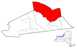 Location of Glenville within Schenectady County
