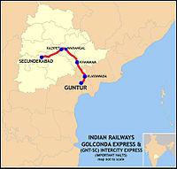 Golconda Express (SC-GNT) Intercity Express Route map.jpg
