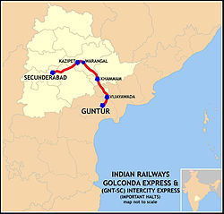 Golconda Express (SC-GNT) Intercity Express Route map.jpg