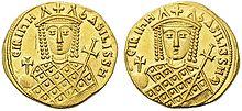 Gold Solidus, byzantinisch, Irene, 797-802.jpg