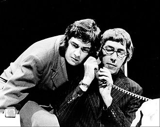 Peter Cook - Cook (right) and Moore performing in the revue Good Evening on Broadway