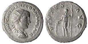 silver antoninianus of Gordian III