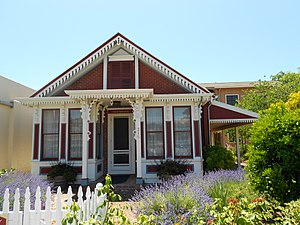 Cloverdale, California - A historic house in Cloverdale.
