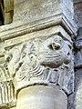 Gournay-en-Bray (76), collégiale St-Hildevert, bas-côté sud, chapiteau de l'arcade vers le transept, côté nord 3.jpg