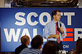 Governor of Wisconsin Scott Walker at Joey's Diner in Amherst New Hampshire on July 16th 2015 by Michael Vadon 21.jpg