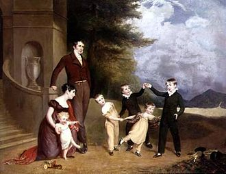 Harriet Leveson-Gower, Countess Granville - The Earl and Countess Granville with their children