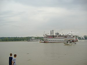 Great Steamboat Race - The 2007 Race, as seen from Duffy's Landing in Jeffersonville, Indiana