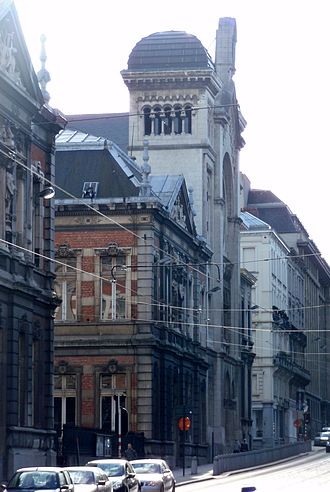 History of the Jews in Belgium - Great Synagogue, Brussels