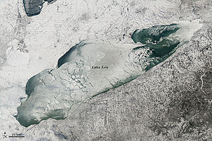 Lake Erie - Lake Erie on January 9, 2014