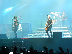 Green Day (5. Juni 2013)Von links nach rechts: Billie Joe Armstrong, Mike Dirnt und Tré Cool.