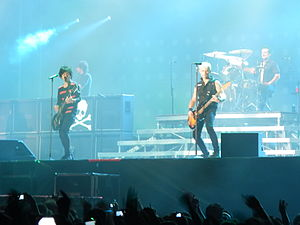 99 Revolutions Tour - Green Day performing in Rome, June 5, 2013