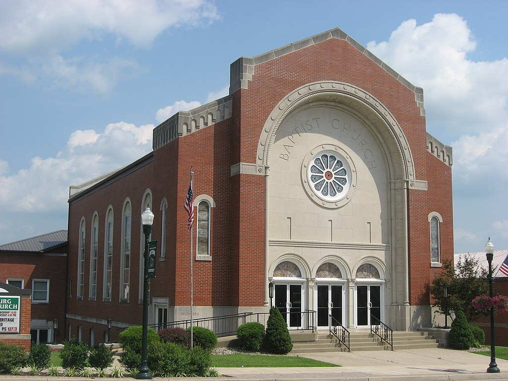 Greensburg (KS) United States  city photos : of the Greensburg Baptist Church, located at 128 N. Main Street U.S ...