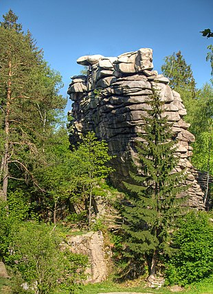 "The Greifensteine rock tower near <a href=""http://search.lycos.com/web/?_z=0&amp;q=%22Ehrenfriedersdorf%22"">Ehrenfriedersdorf</a>, <a href=""http://search.lycos.com/web/?_z=0&amp;q=%22Ore%20Mountains%22"">Ore Mountains</a>"
