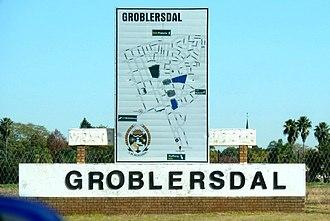 Groblersdal - Town limit sign