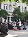 Grupo de música tropical en plaza de la ciudadanía de Valparaíso.JPG