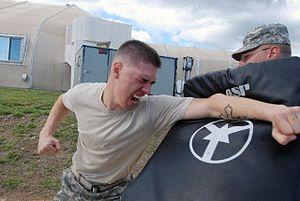 Guardsmen receive pepper spray training at Gitmo