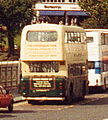 Guide Friday tour bus, Waverley Bridge, Edinburgh, September 1992.jpg