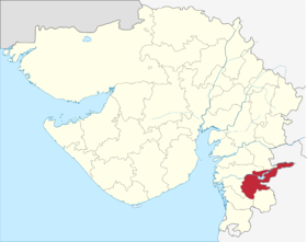 Localisation de District de Tapiતાપી જિલ્લો