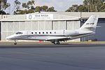 Gulf Aircraft (VH-PYN) Cessna 680 Citation Sovereign taxiing at Wagga Wagga Airport.jpg